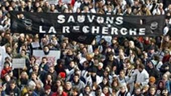 Frankreich Forschung Protest in Paris