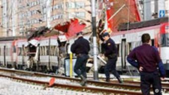 Madrid, 2004, after a terrorist attack on a public train