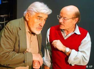 Mario Adorf und Volker Schlöndorff im Berliner Renaissance-Theater
