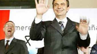 José Luis Rodríguez Zapatero gewinnt die Wahl in Spanien