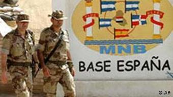 Spanische Soldaten im Irak Diwaniyah