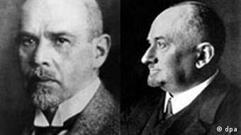 Kombo Kalenderblatt Vertrag von Rapallo Walther Rathenau und Georgi Wassiljewitsch Tschitscherin