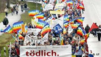 Irak Demonstration in Ramstein