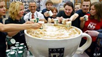 Cappuccino in Moskau