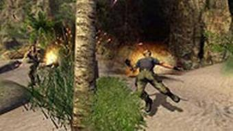 Scene of a character dying in the game Far Cry