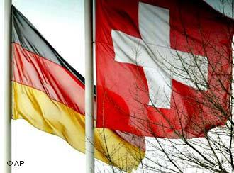 German and Swiss flags