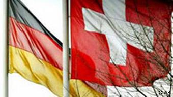 The German and Swiss flags