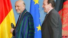 Bundeskanzler Gerhard Schröder und Hamid Harsai
