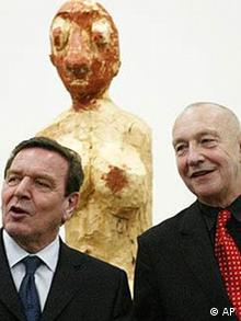 Gruss aus Oslo: Georg Baselitz und Gerhard Schröder in Bundeskunsthalle in Bonn