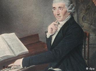 'Papa Haydn' num guache de J. Zitterer