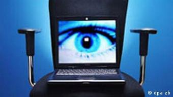 Chefsessel mit Laptop Auge