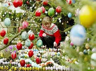 В Германия великденските яйца служат и за декорация