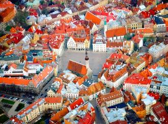 Vista panorámica de Talin, capital de Estonia.