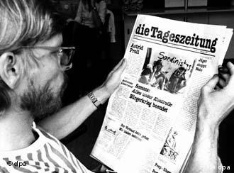 A young man reads a pre-edition of the TAZ, published in Sept. 1978; the first edition came out on April 17, 1979