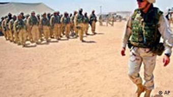 USA Militärlager in Irak bei Nadschaf