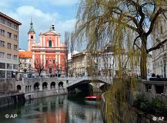 Vista de la capital de Eslovenia, Lubliana.