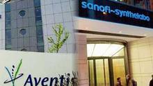 Aventis und Sanofi, Firmengebäude, Collage Artikelbild