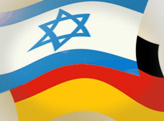 The Israeli and German flags