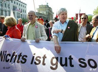 Первомайская демонстрация в Берлине