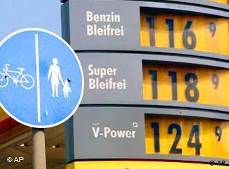 High prices at the pump might soon turn Germany into a nation of pedestrians.