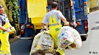 Müllabfuhr Abtransport von Verpackungsmüll