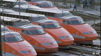 TGV Hochgeschwindigkeitszüge in Paris
