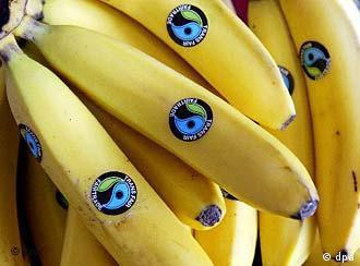 En los supermercados alemanes pueden hallarse bananos orgánicos y de comercio justo con Ecuador.