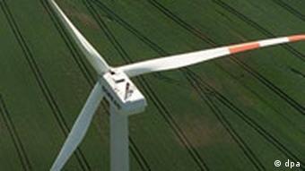 A wind turbine in Germany