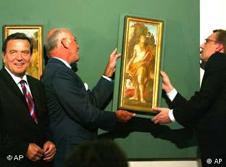 The chancellor and art -- just a good photo opportunity?