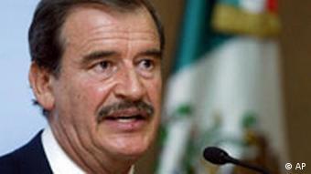 Vincente Fox, Präsident of Mexiko Porträtfoto