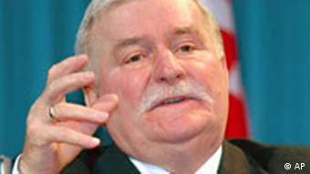 Der ehemalige polnische Präsident Lech Walesa