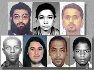 Aafia Siddiqui, top row, second from left on the FBI's list of people being sought by the U.S.