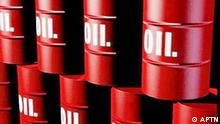 Stacked OIL drums, graphic element on black
