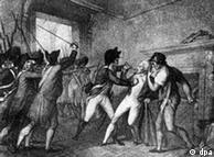 Cena da prisão de Robespierre