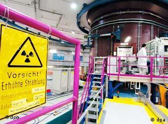 Das Innere des Forschungsreaktors FRM II in Garching bei München