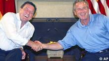 G8 2004 Gipfel auf Sea Island Schröder und Bush