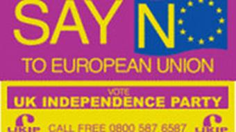 Europawahl 2004 Wahlwerbung der UK Independence Party