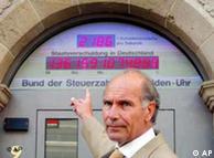 Счетчик государственного долга Германии похож на включенный хронометр