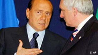 EU Gipfel in Brüssel Verfassung Silvio Berlusconi und Bertie Ahern