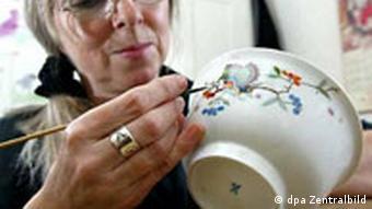 Porzellan-Manufaktur Meissen Porzellanmalerin