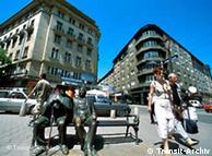 保加利亚首都索非亚街头