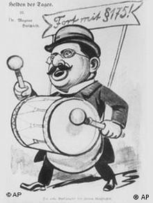Magnus Hirschfeld als Cartoonfigur