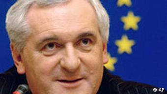 Der irische EU-Ratspräsident EU-Ratspräsidentschaft Bertie Ahern