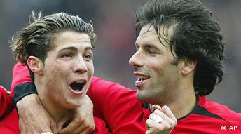 Manchester United Cristiano Ronaldo und Ruud Van Nistelrooy