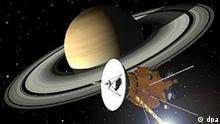 Raumsonde Cassini trifft Saturn