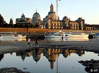 Dresden's Frauenkirche in the old city center on the banks of the Elbe