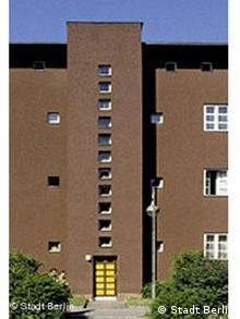 Hufeisensiedlung, Berlin : les immeubles ne dépassent pas trois étages.