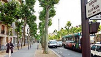 Holger Pfahls Wohngegend in Paris Avenue de Suffren
