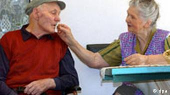 Пациент, страдающий болезнью Альцгеймера