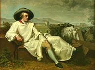 'Goethe  na Campagna', de Johann Heinrich Wilhelm Tischbein (1787)